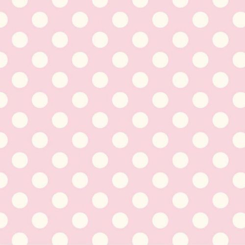 "Riley Blake -  Dots (Baby Pink/Antique)   3/4"" (1.75cm) spot Fabric"